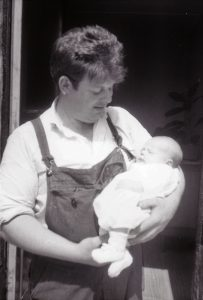 Brian Green with New Born Richard 1968